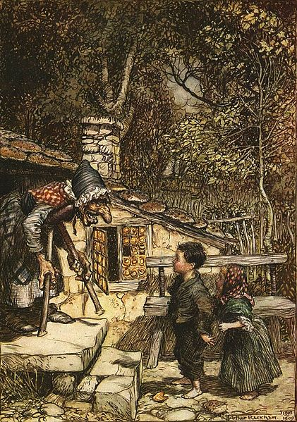 Arthur Rackham 1909 illustration of Hansel and Gretel